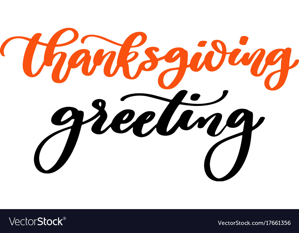 Thanksgiving day card with handwritten