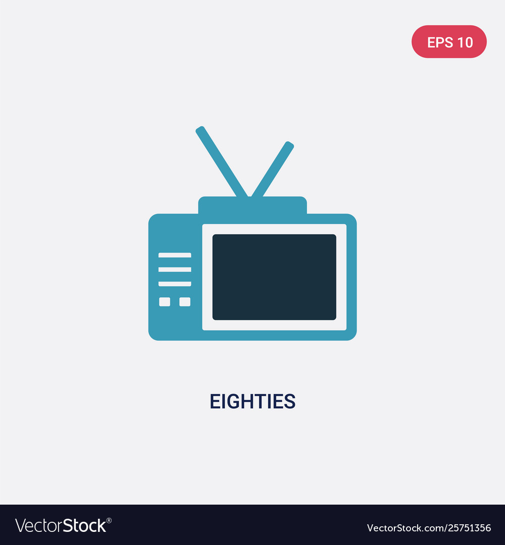 Two color eighties icon from user interface