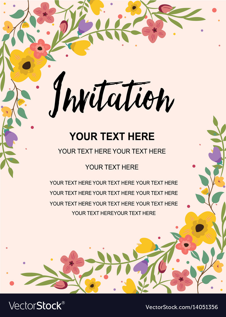 Vintage floral greeting invitation card template vector image stopboris Choice Image