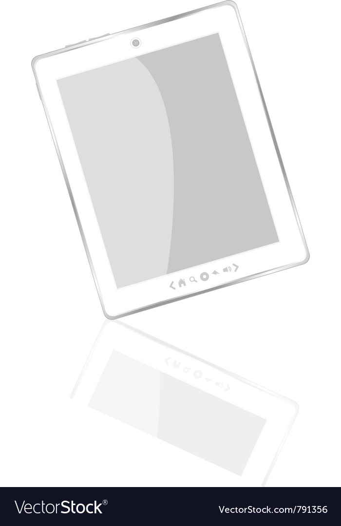 White abstract tablet pc
