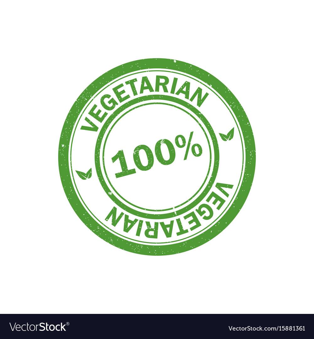 100 vegetarian stamp vegan logo icon