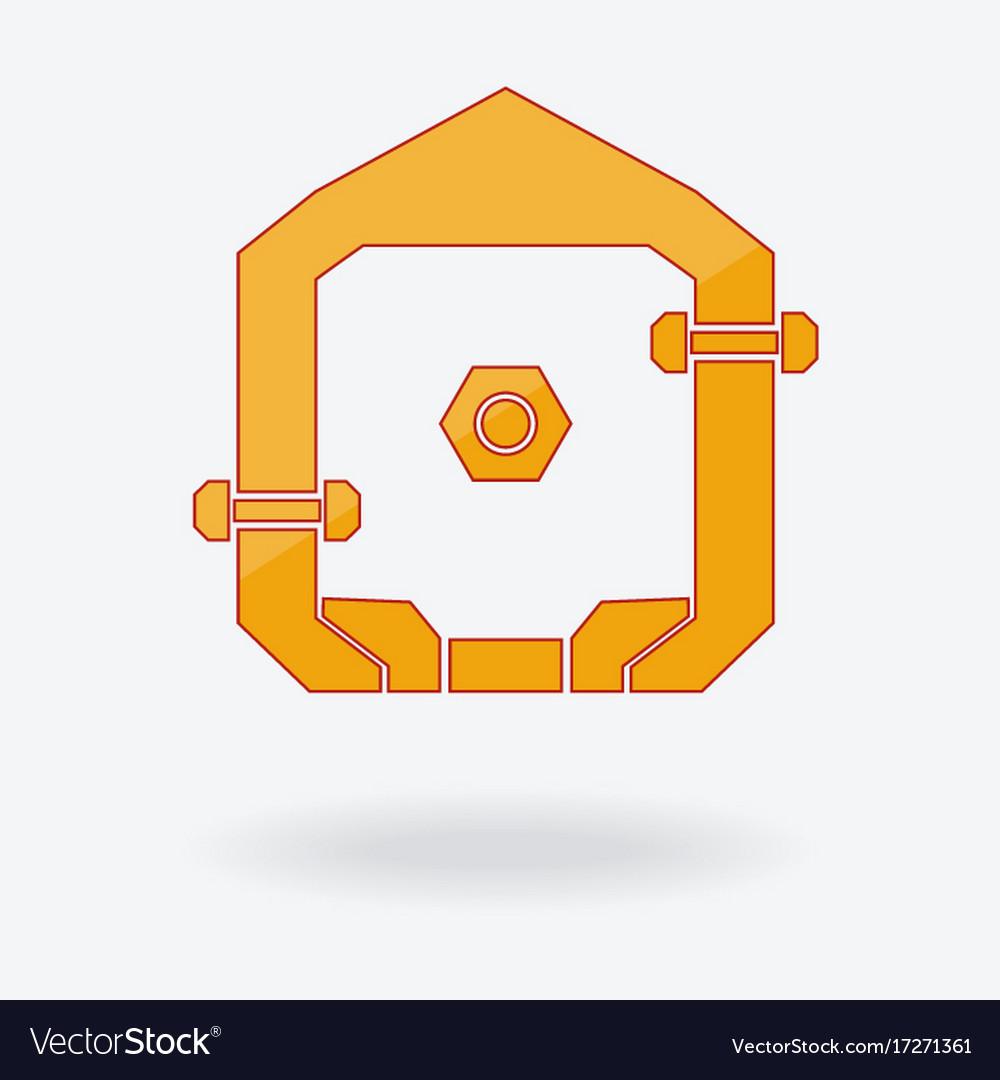 Abstract home logo design