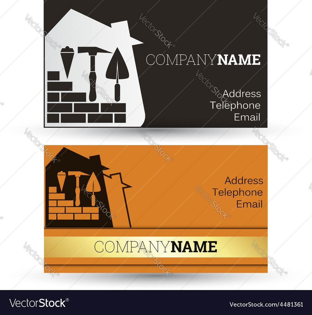 Business card construction Royalty Free Vector Image