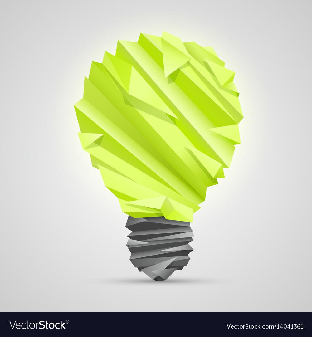 Creative idea of origami lamp