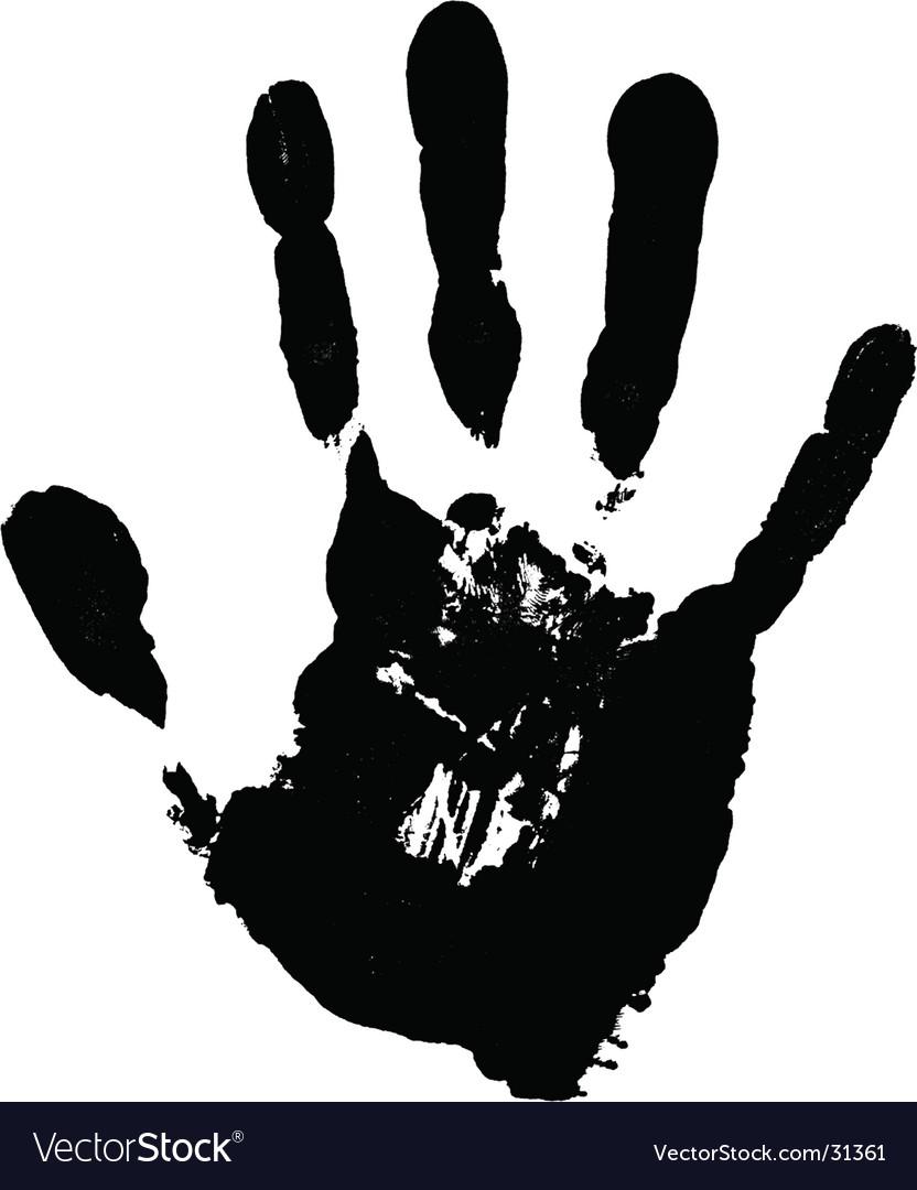 hand print royalty free vector image vectorstock rh vectorstock com hand print vector image hand print vector png