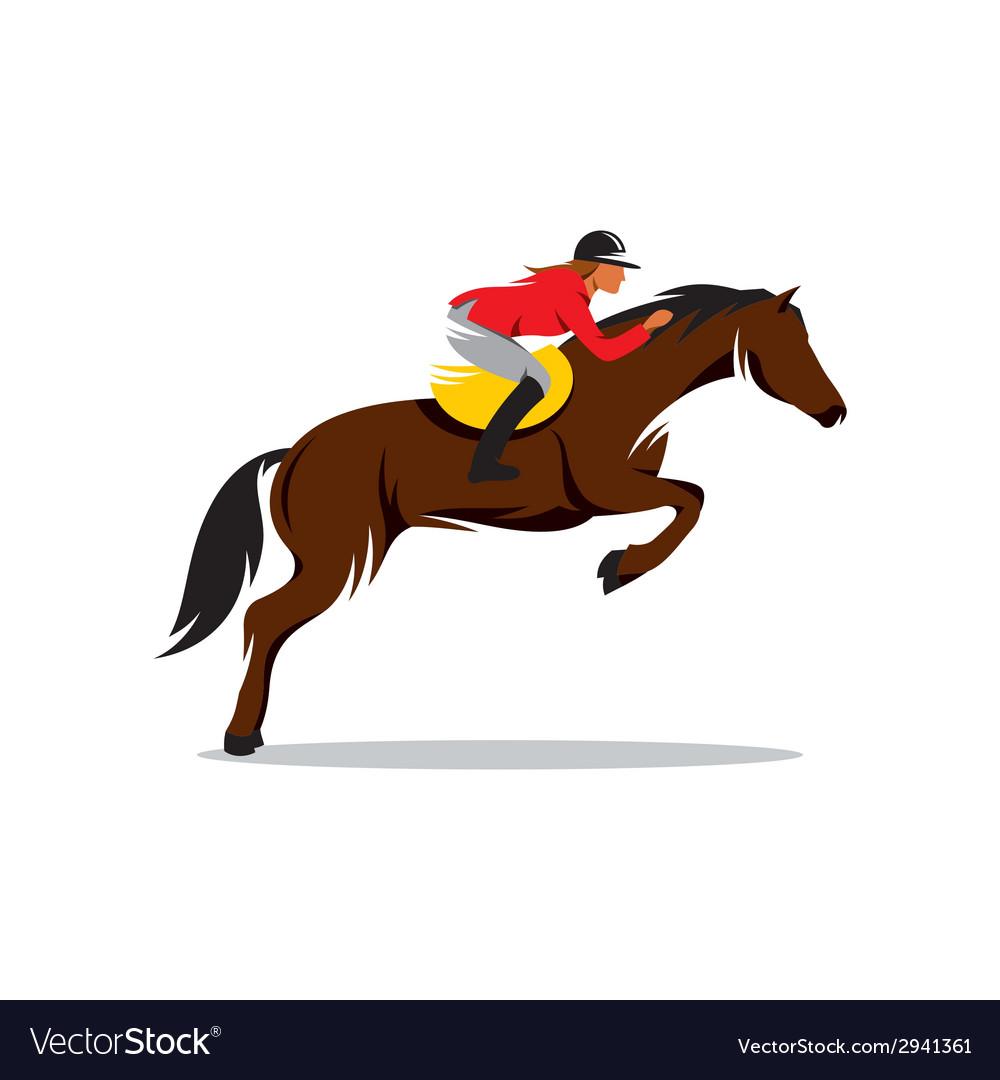 Horse at jumping sign
