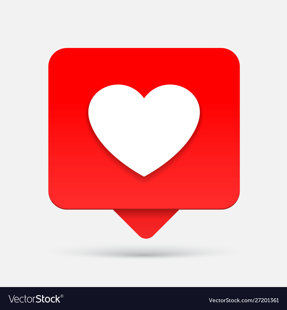 Like heart icon or notification icon