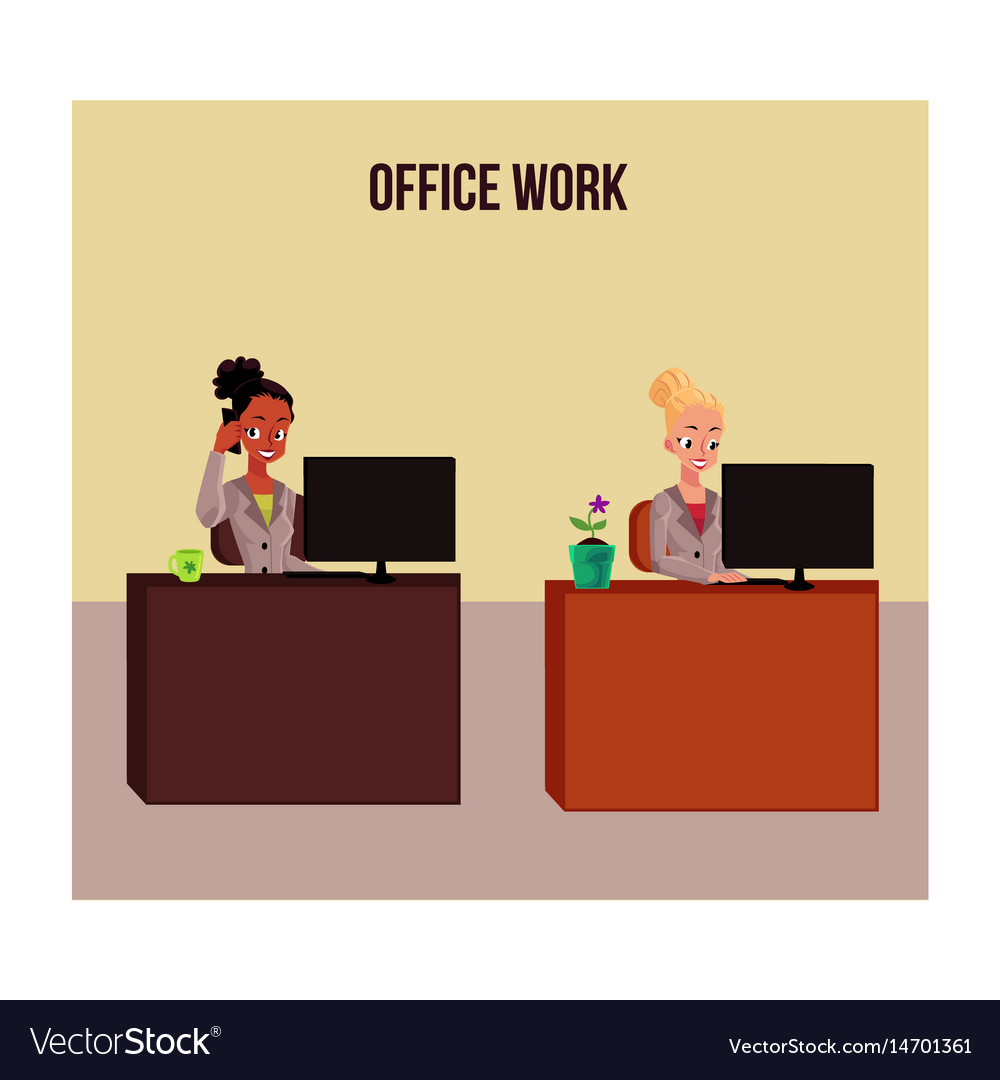 Office life poster banner with white and black