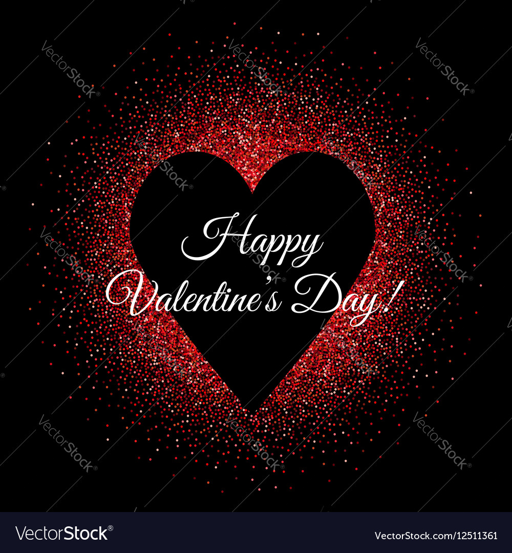 St Valentines day glittering background with heart