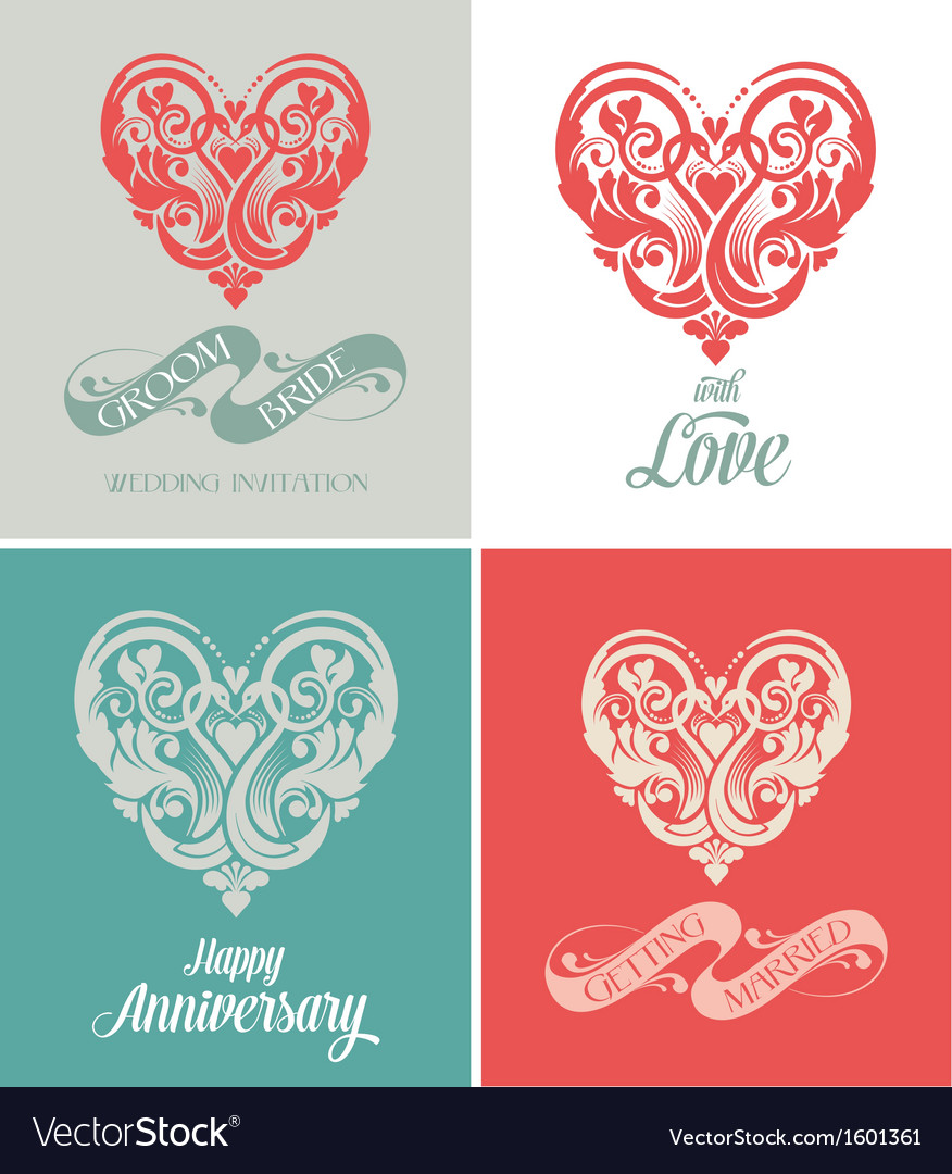 Wedding and anniversary greeting card royalty free vector wedding and anniversary greeting card vector image m4hsunfo