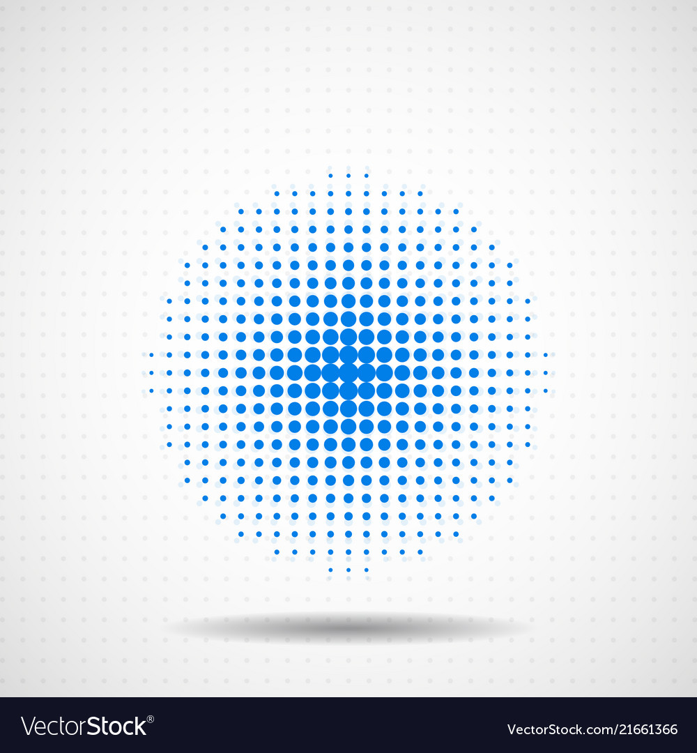Abstract halftone dotted circles colorful dots