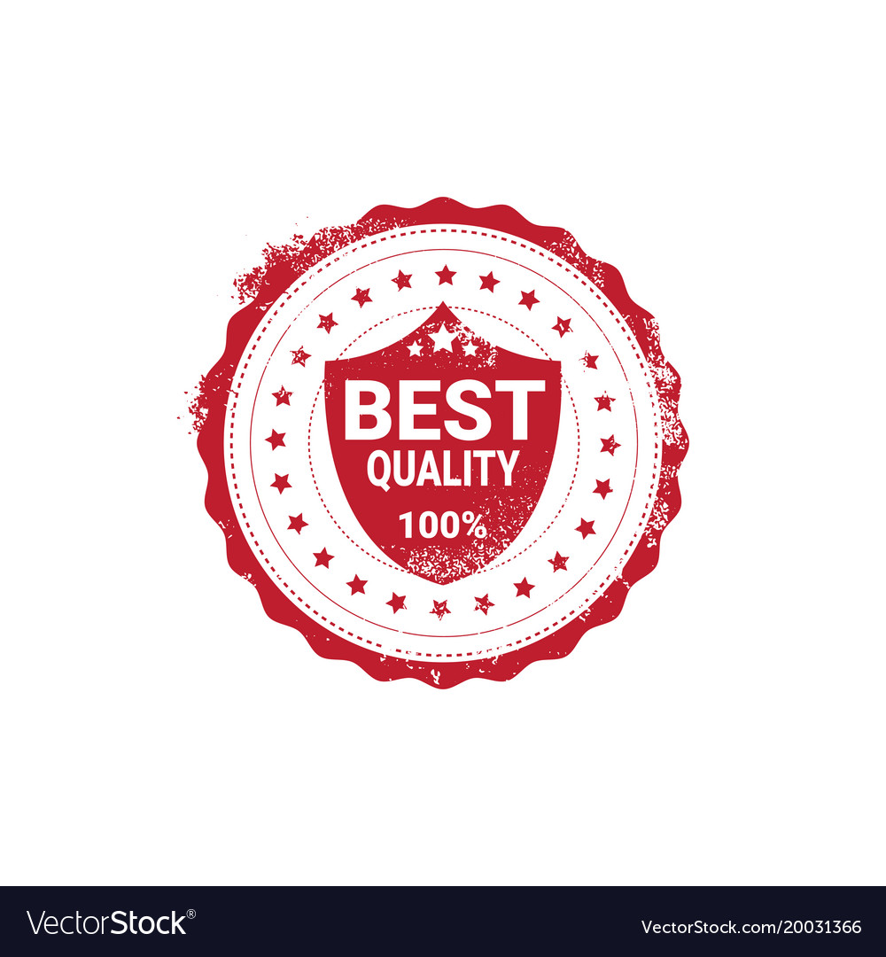Best quality sticker red grunge stamp isolated