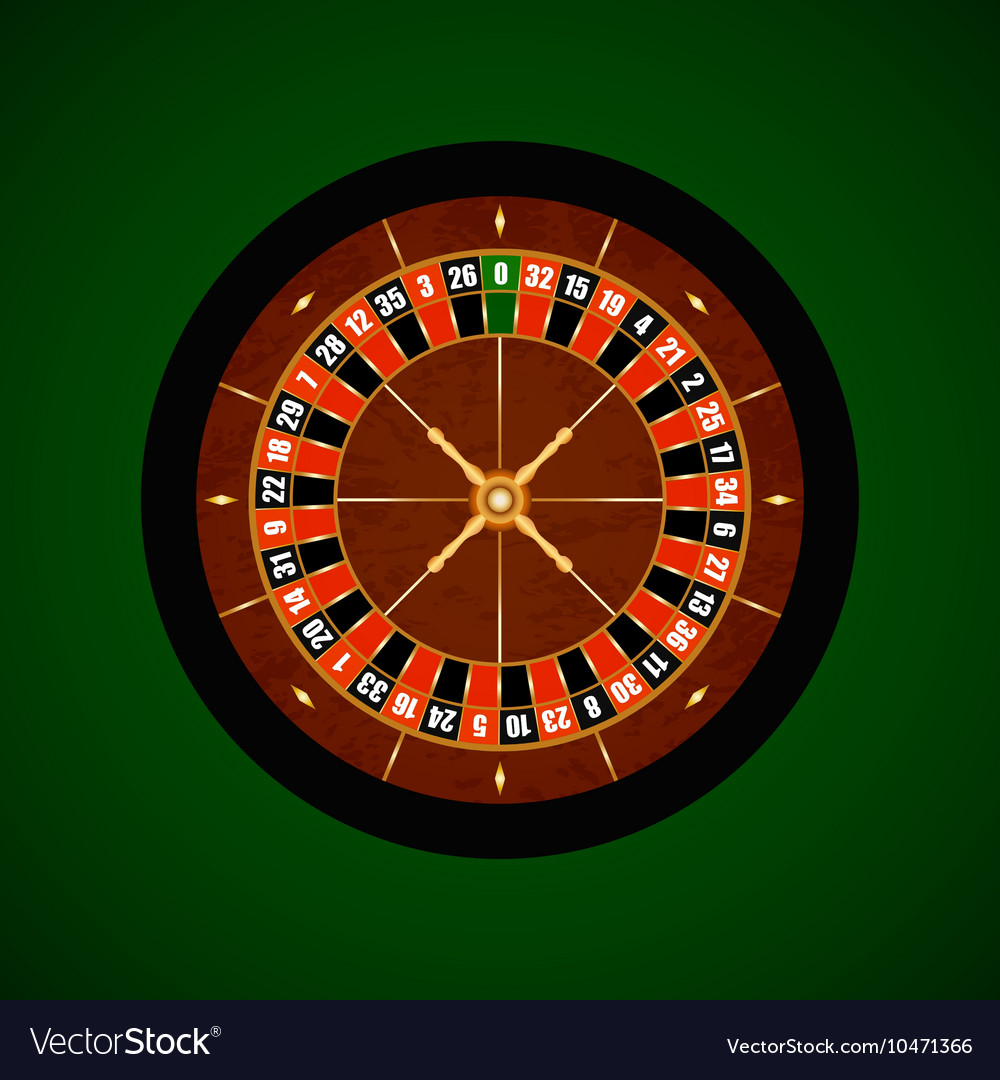 Casino Gambling Roulette Wheel vector image