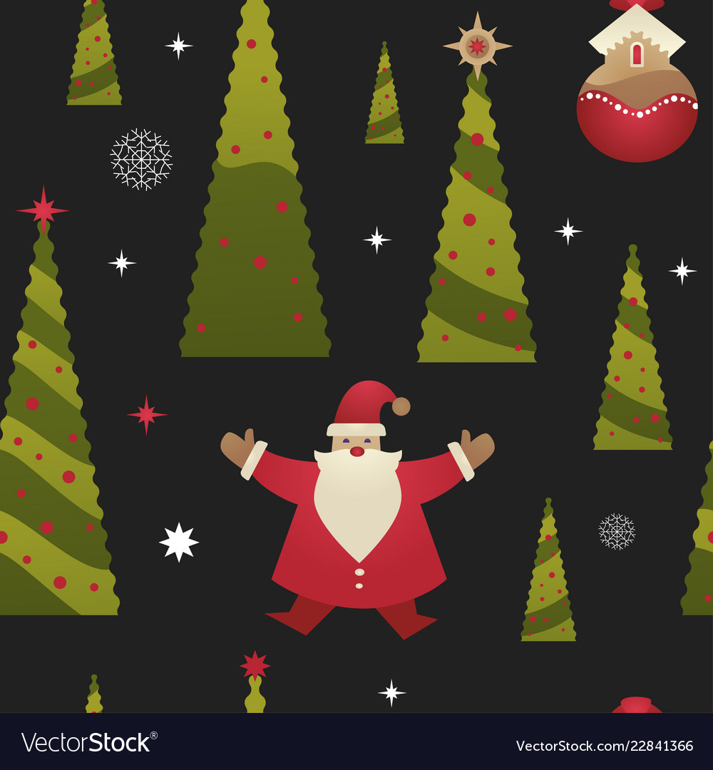 Christmas holiday xmas seamless pattern