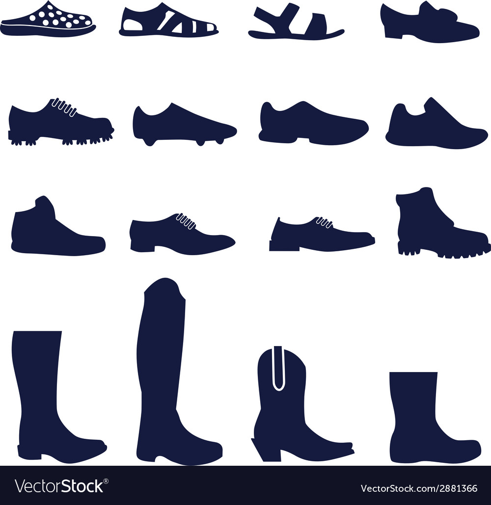 Different types of men footwear