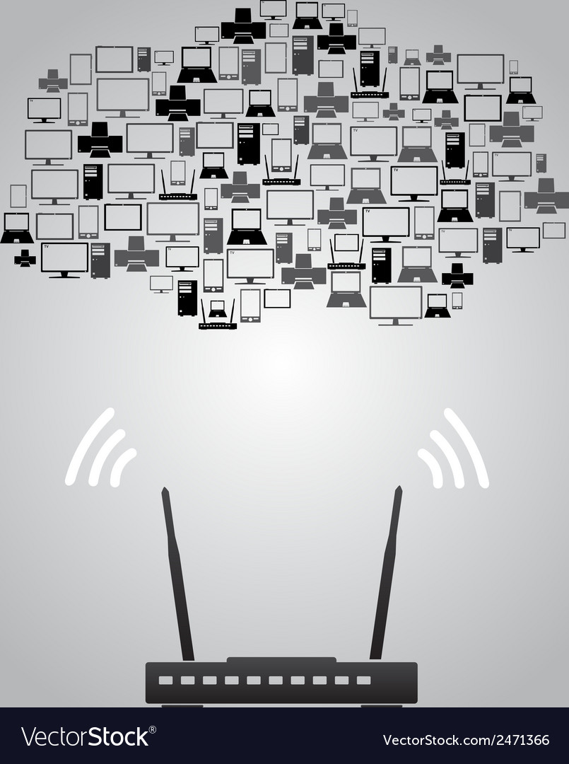 Wireless connection devices eps10 vector image
