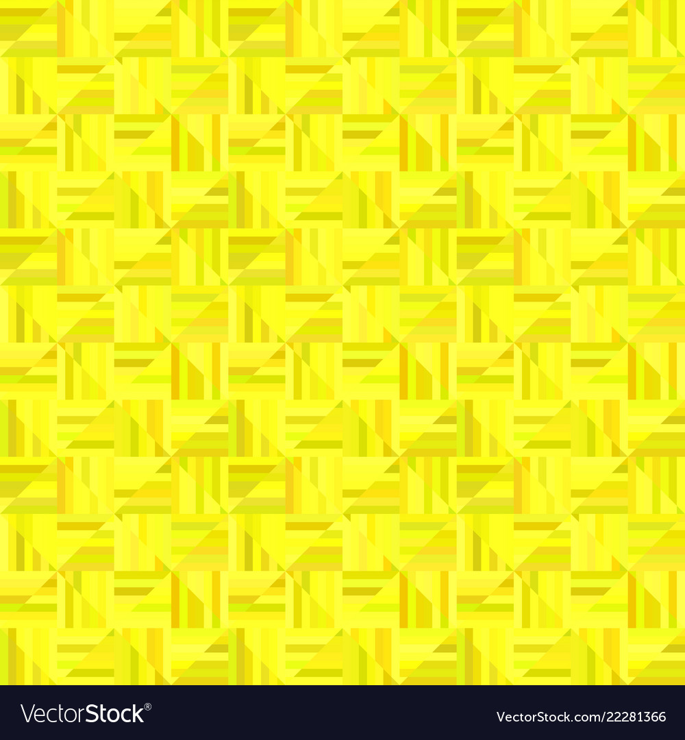 Yellow abstract striped square tile mosaic