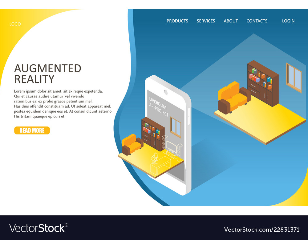 Augmented reality landing page website