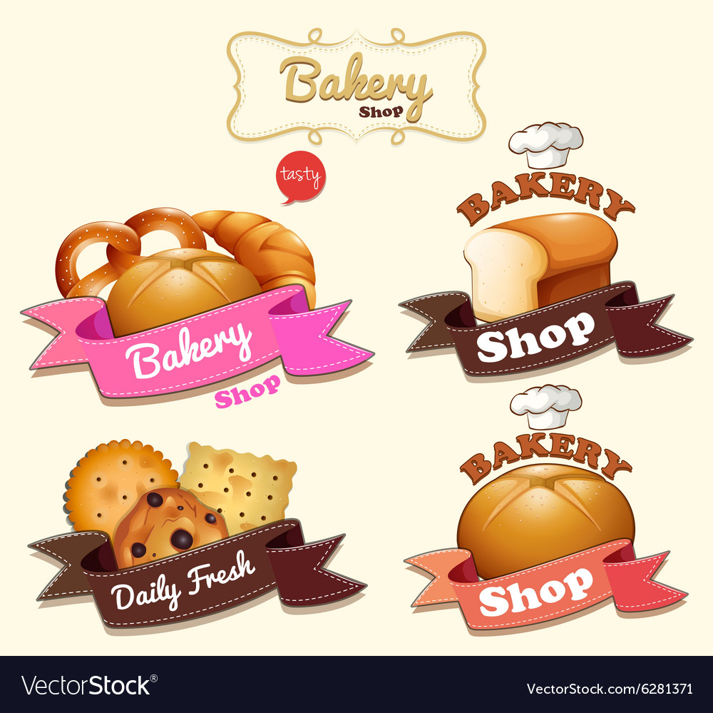 Bakery Shop Logo Design Royalty Free Vector Image