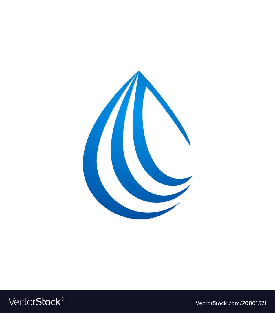 droplet water drop logo royalty free vector image