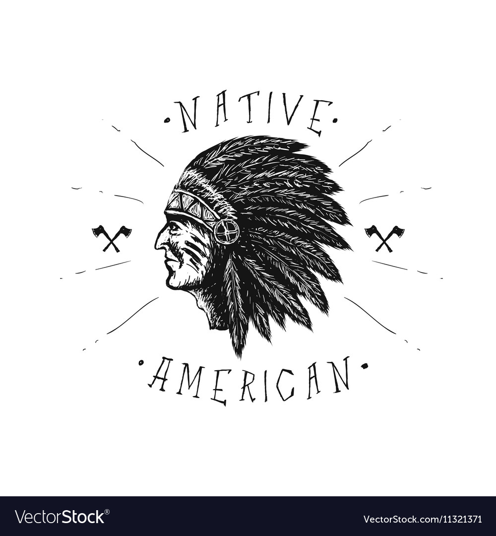 Face of indian chief