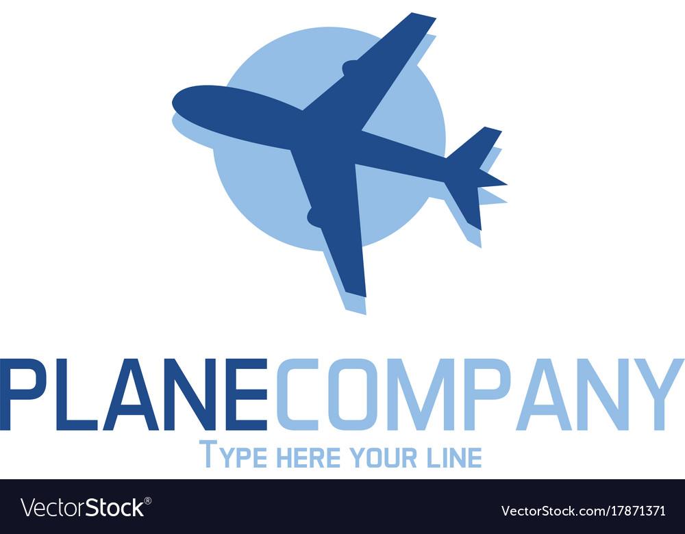 Plane logo vector image