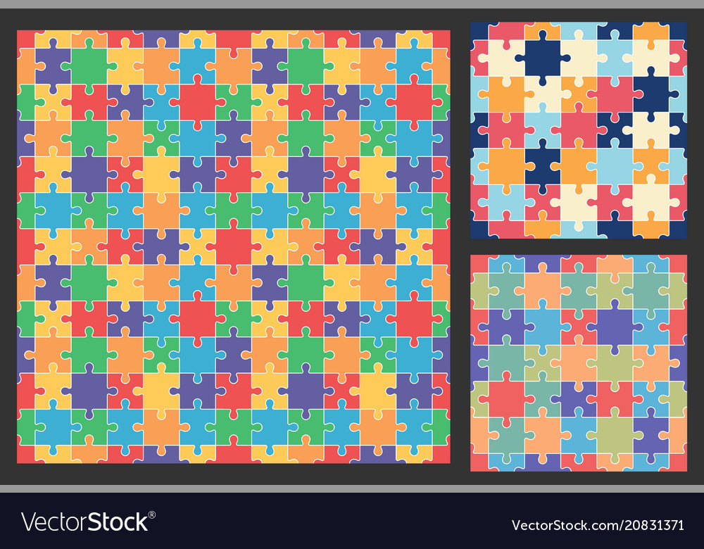 Puzzle colorful pattern