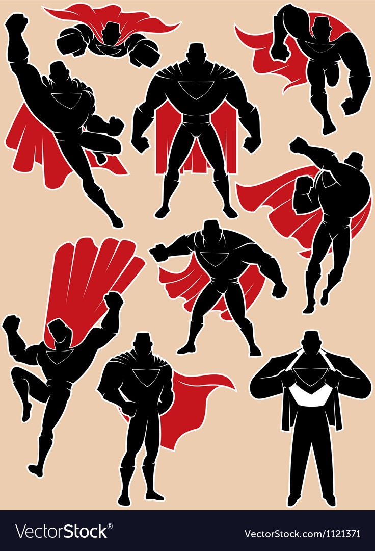 Superhero in Action vector image