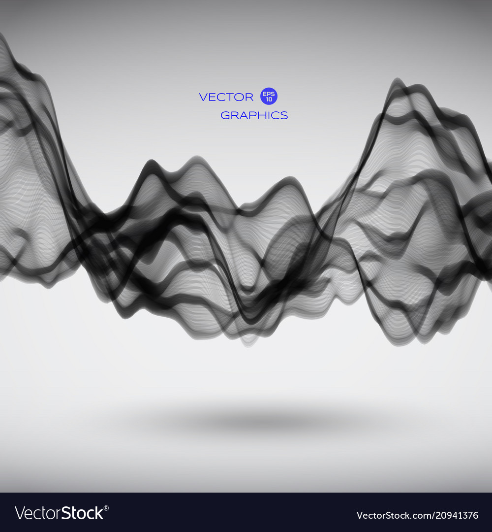 Abstract signal wave