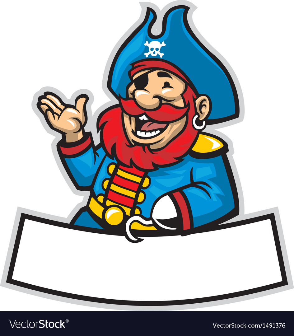 cartoon of pirate captain royalty free vector image