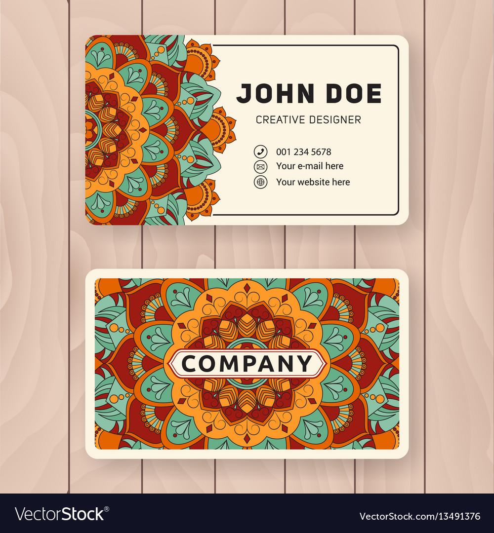 Creative useful business name card design vector image