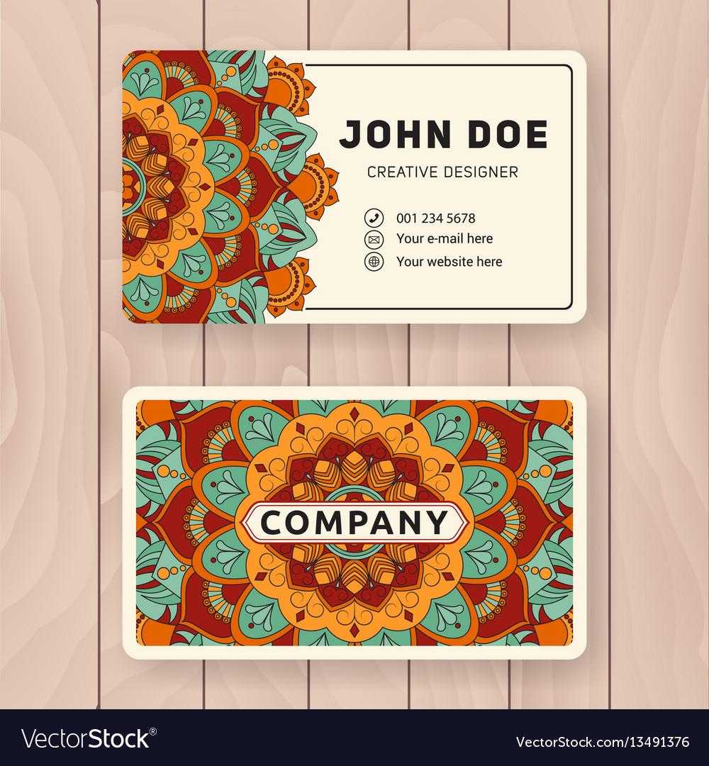 Creative useful business name card design