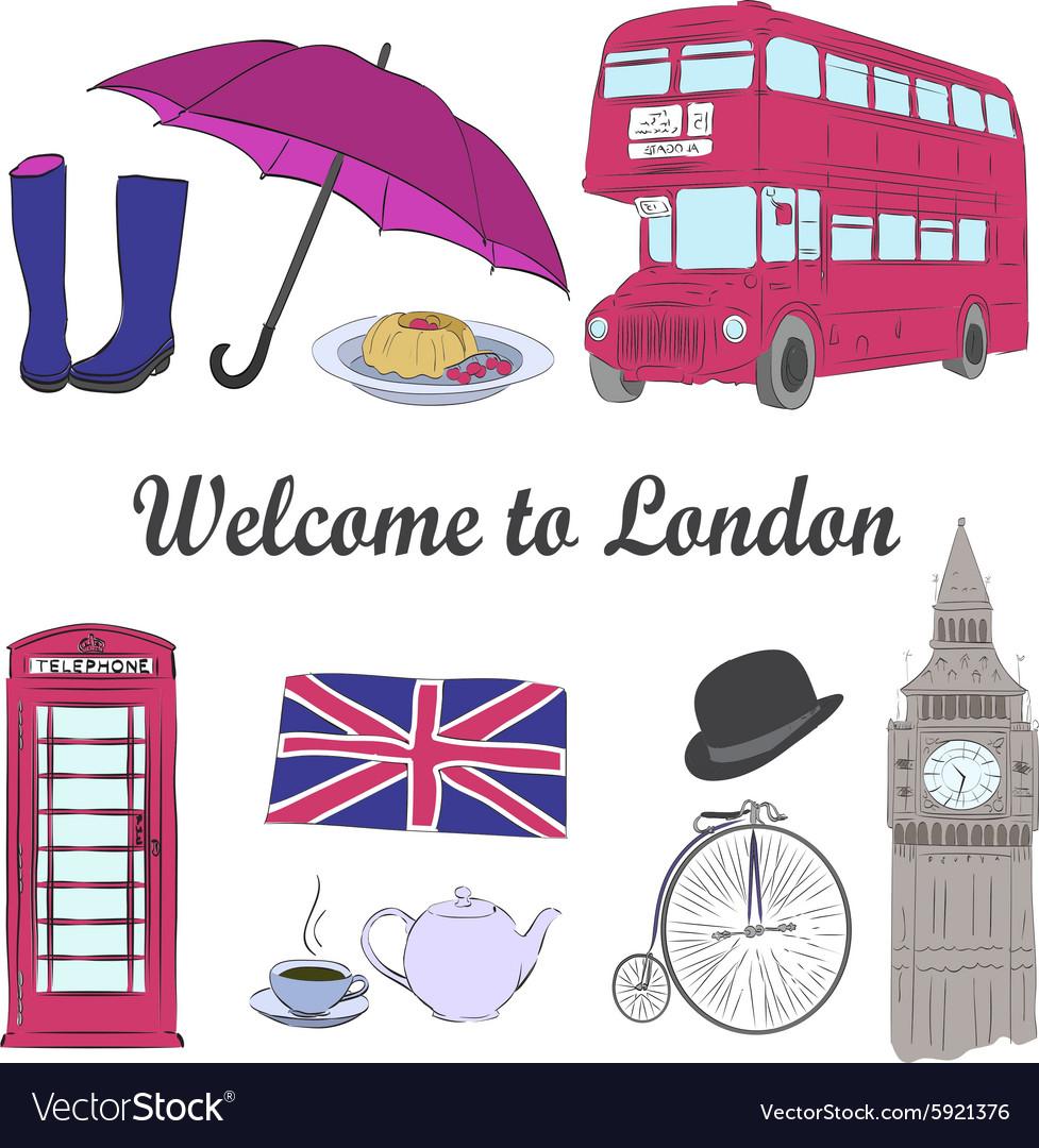 Hand drawn London set