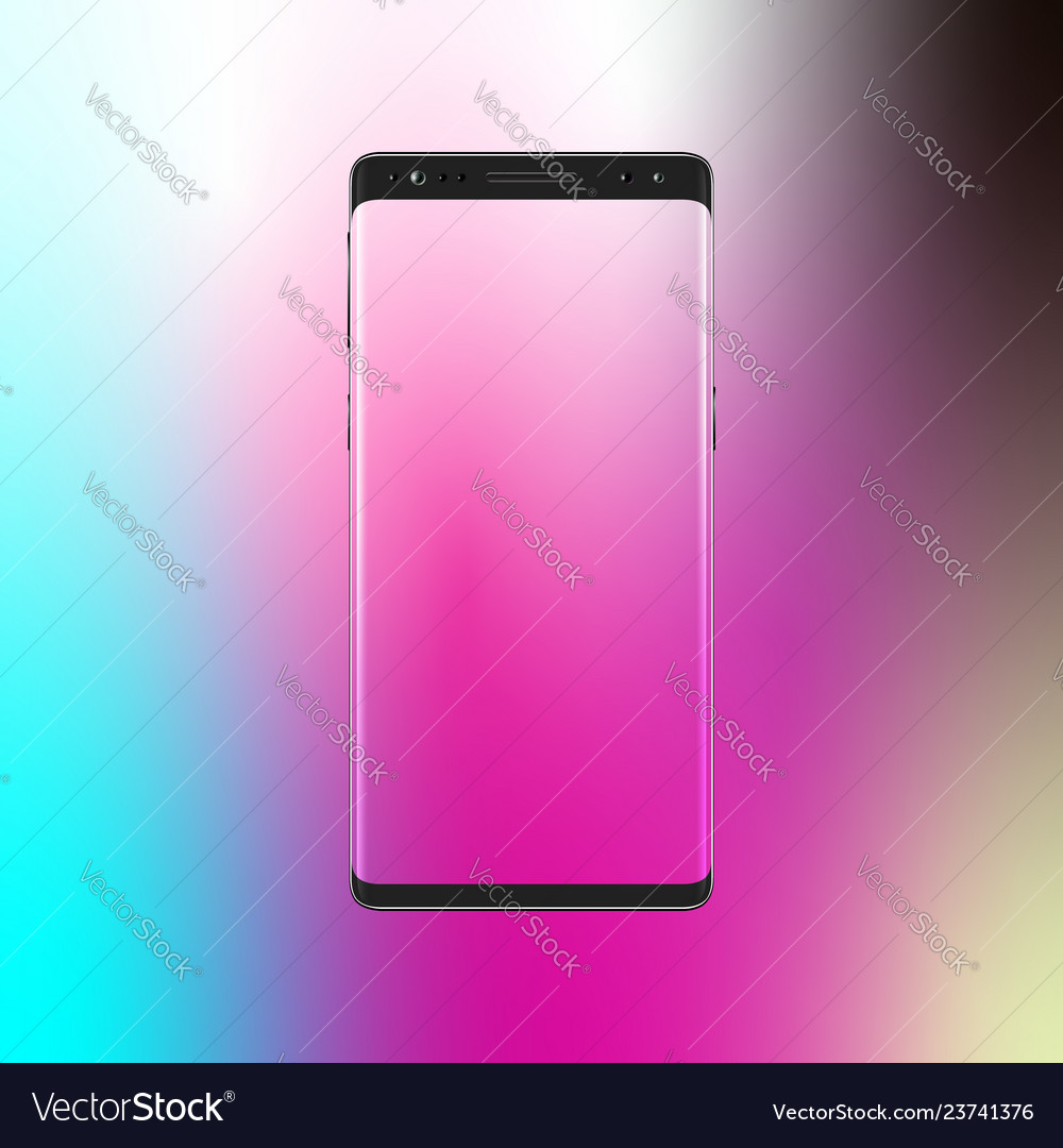 Modern smartphone on gradient background mobile