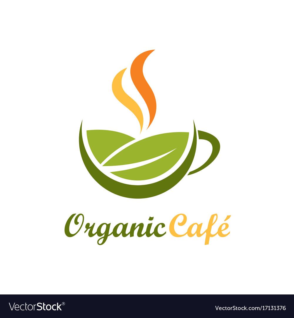 Organic cafe symbol logo
