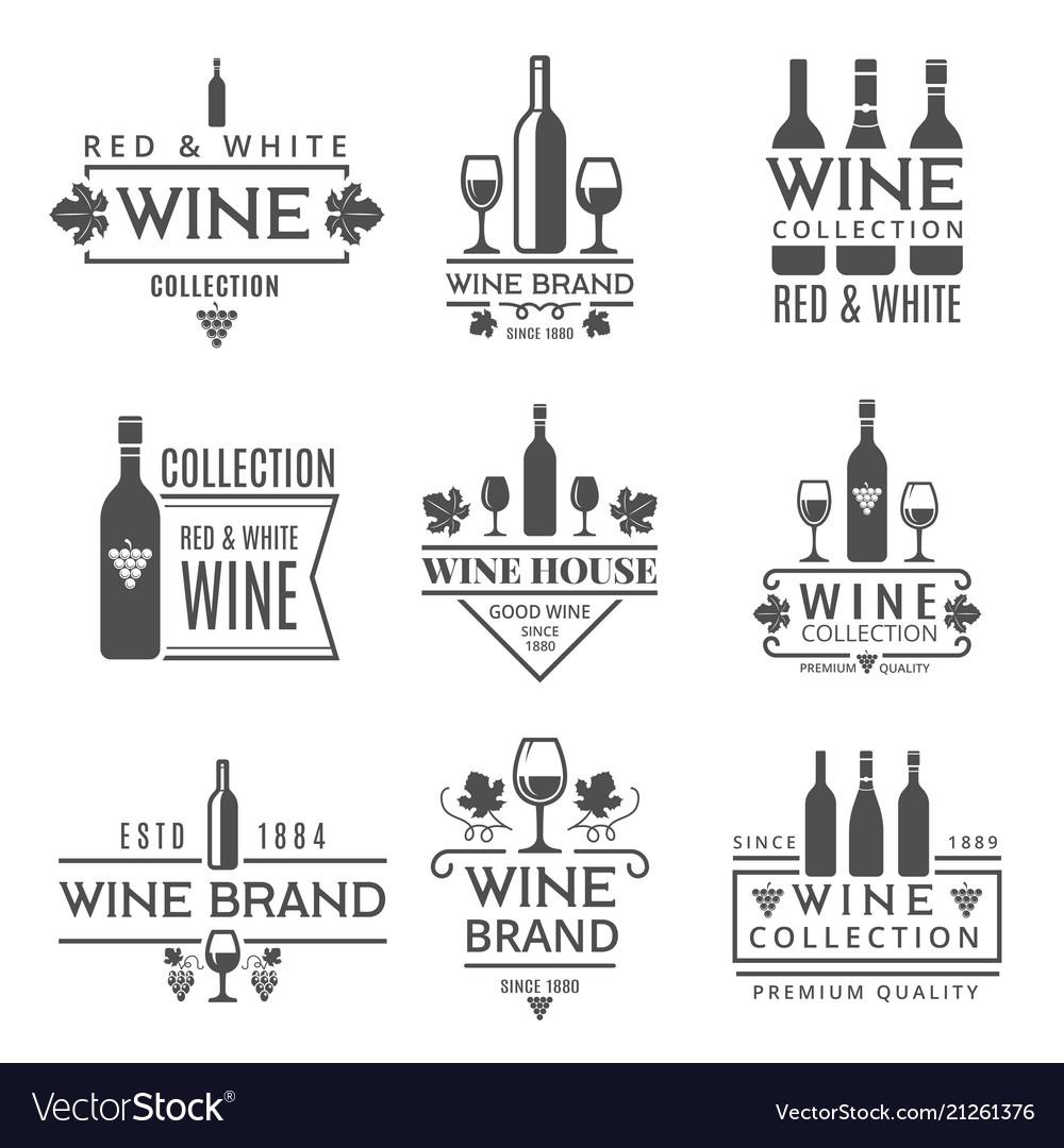 Various wine brands design template
