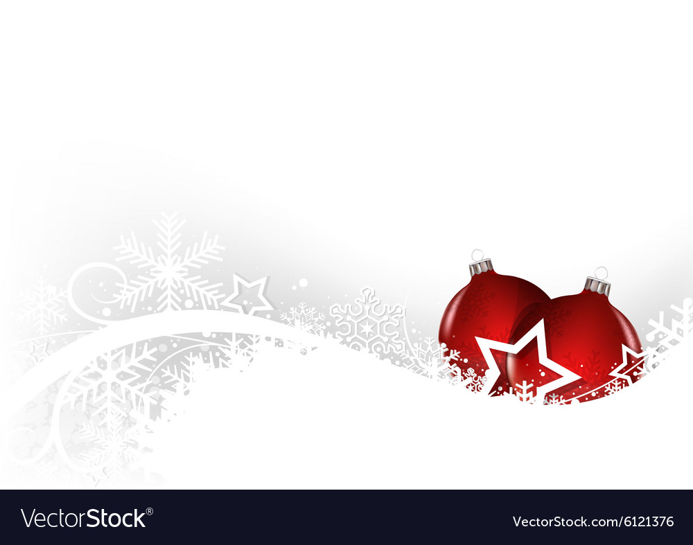 White Christmas Greeting Card vector image