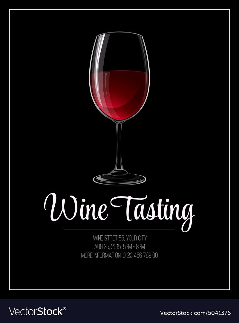 Wine Tasting Flyer Template Royalty Free Vector Image