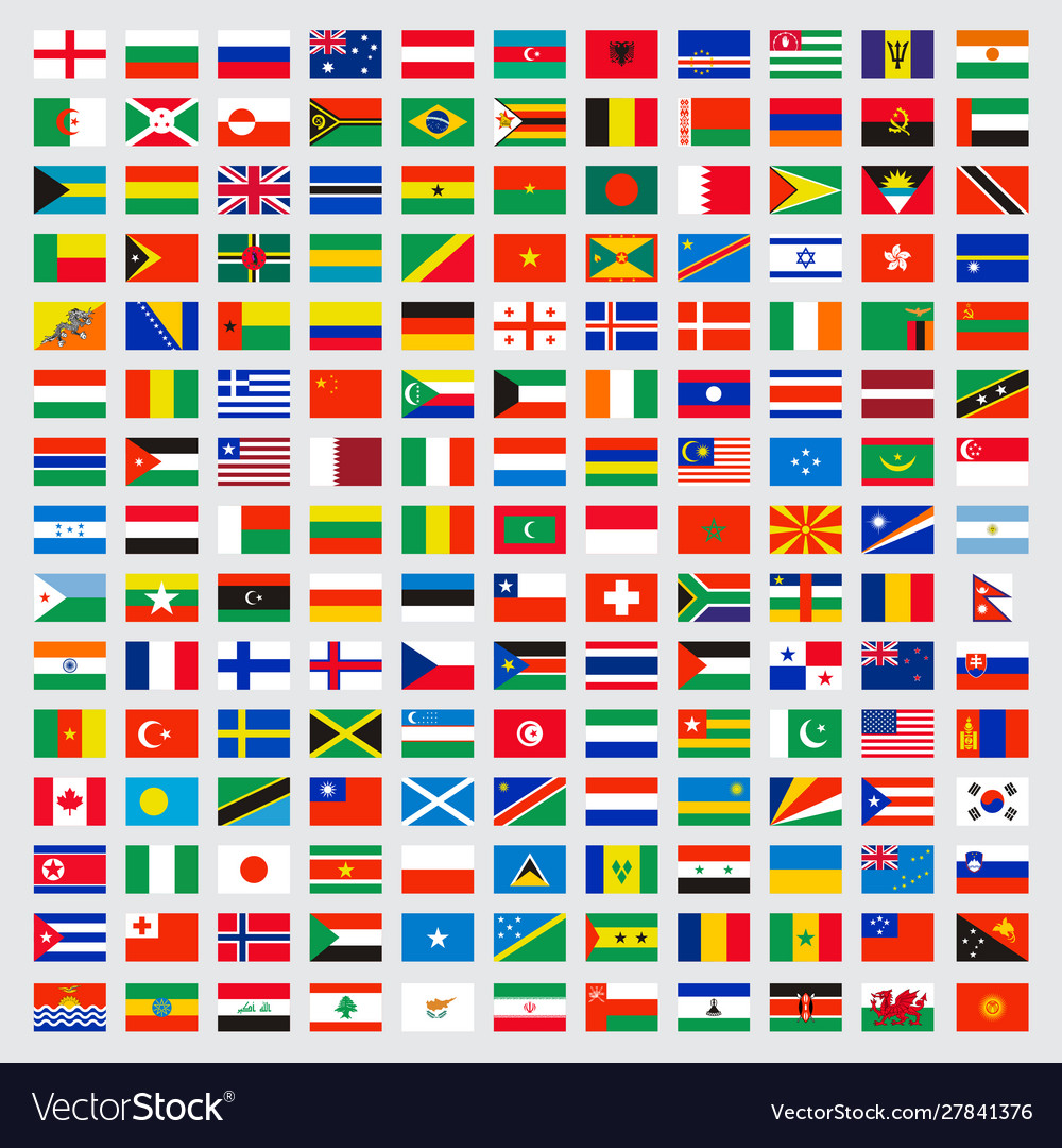 World flags collection laws name independent