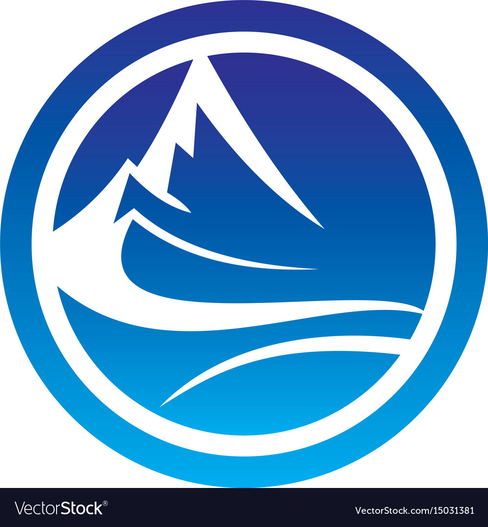 Abstract circle mountain logo image