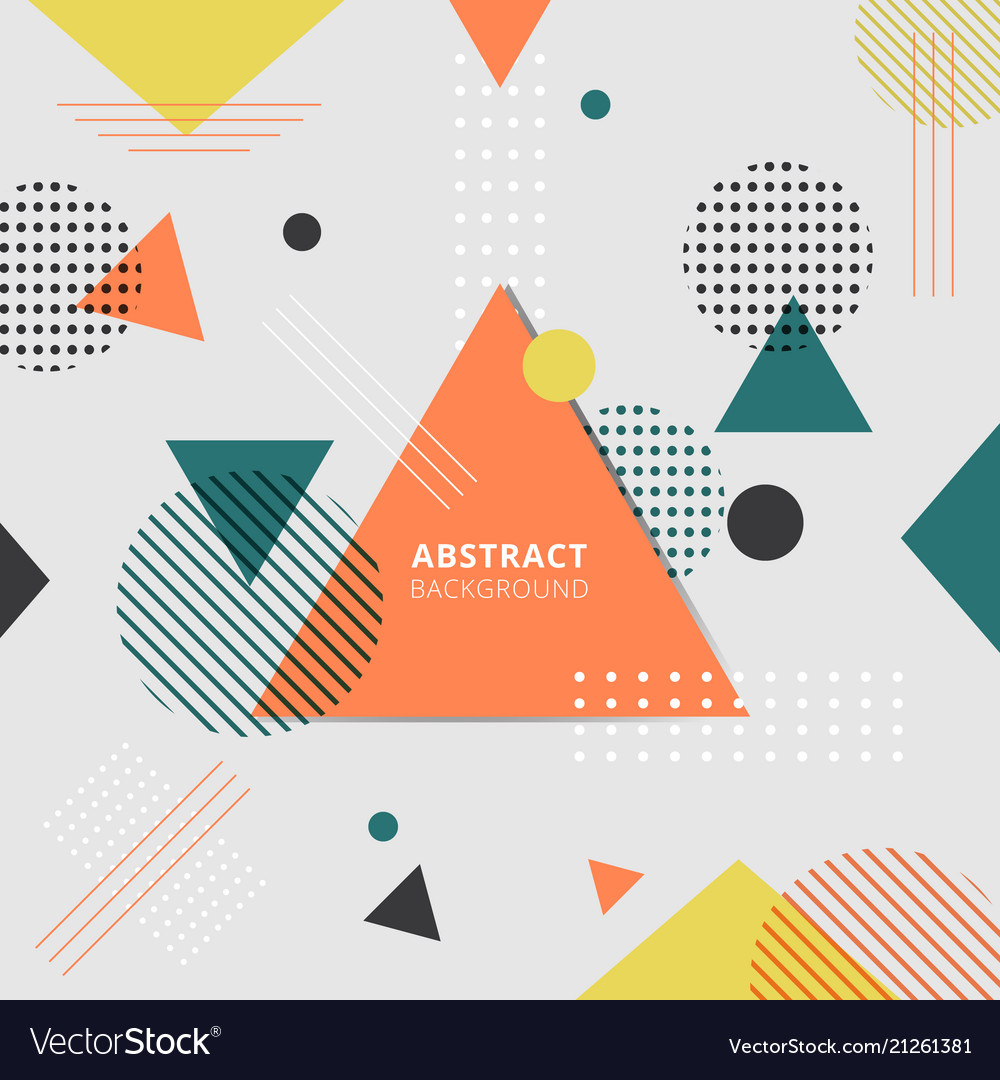 Abstract geometric colorful style background