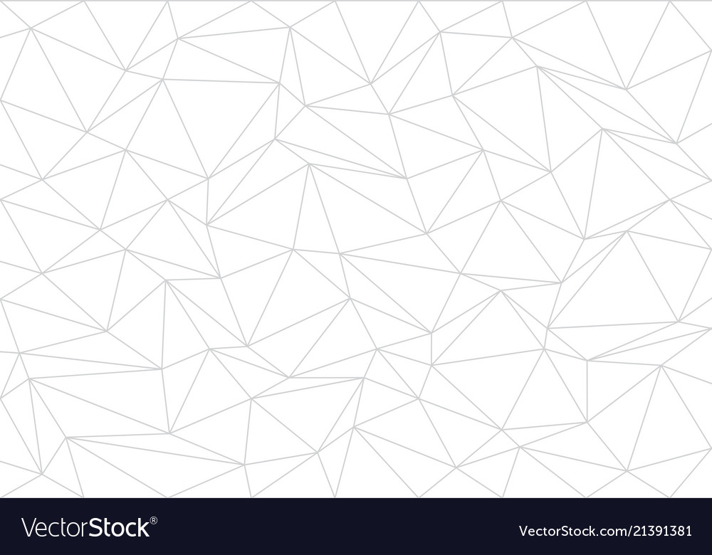 Abstract gray line triangle polygon on white