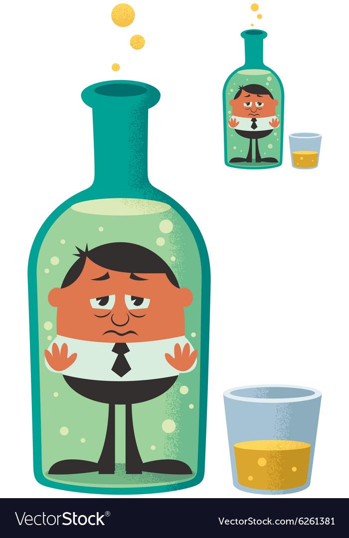 Alcoholism vector image