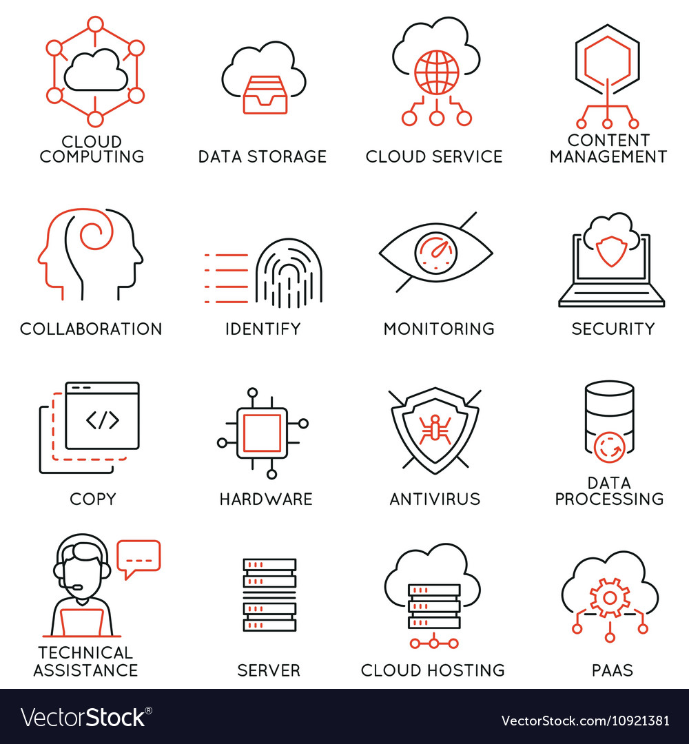 Cloud computing service icons -1