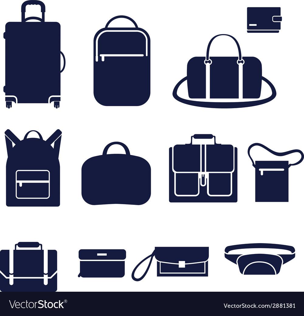 different types of men bags royalty free vector image rh vectorstock com bag victoria secret bag victoria secret