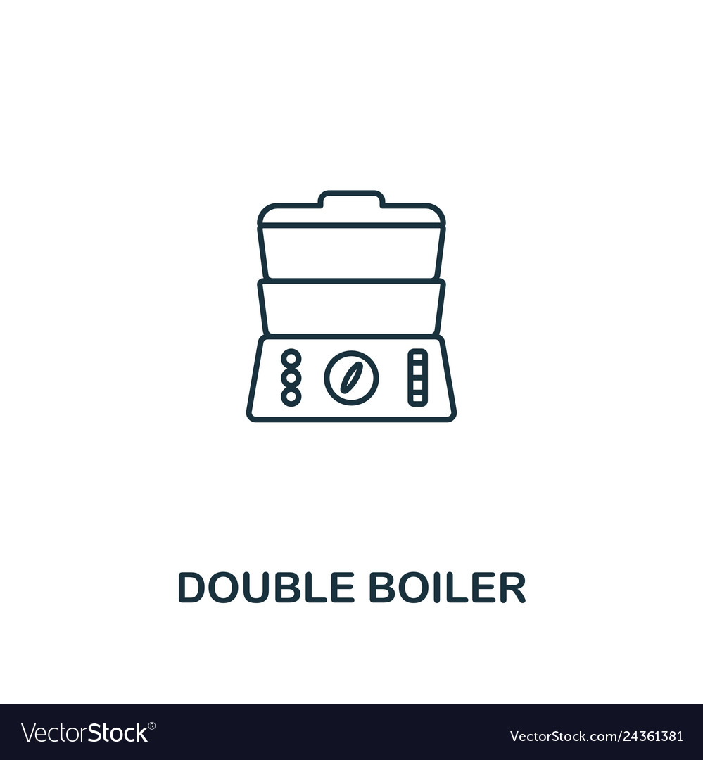 Double boiler icon thin style design from