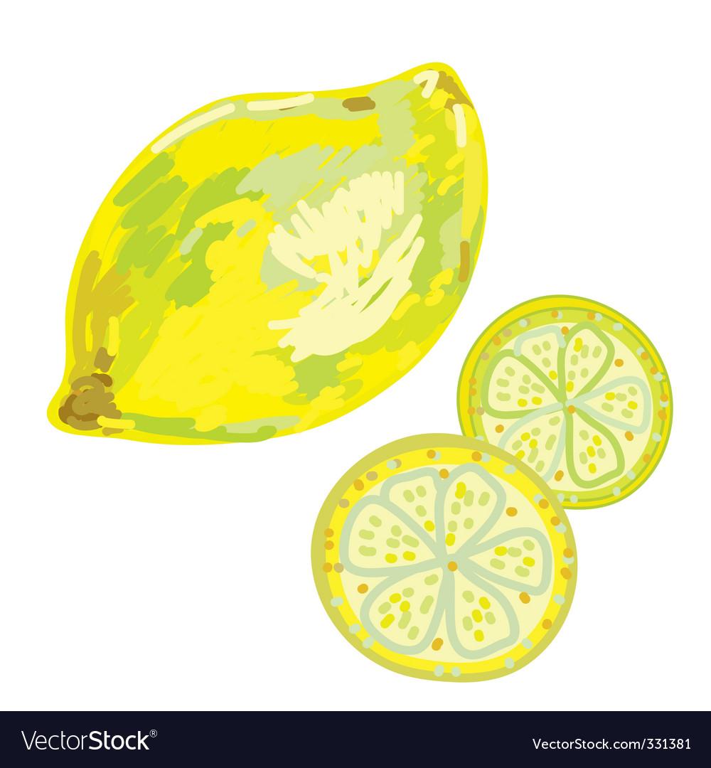 Lemon artistic vector image