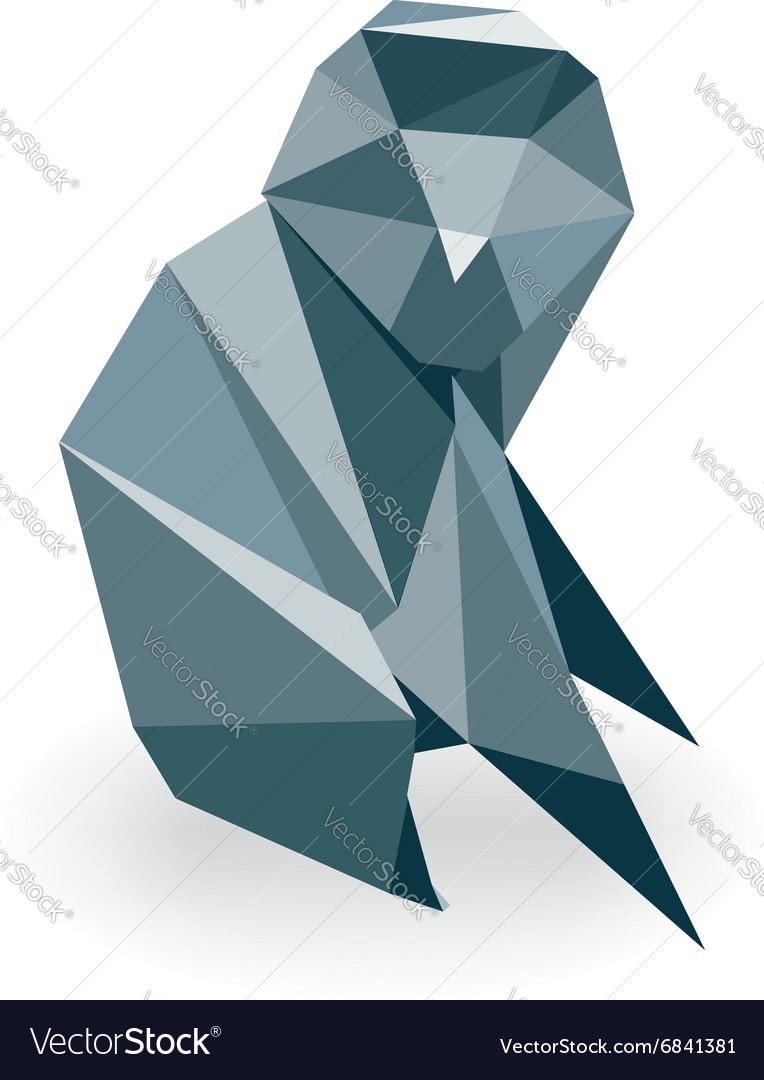 Monkey Origami vector image