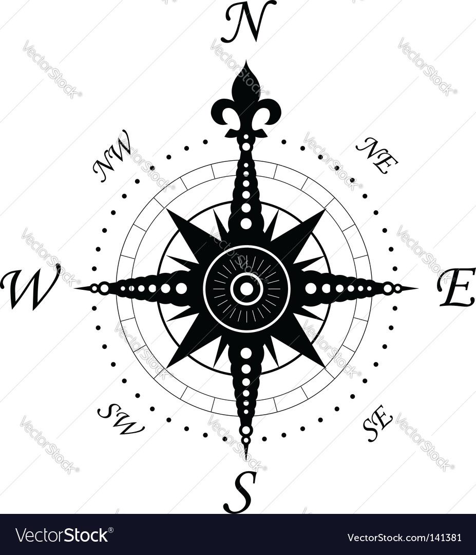 Vintage Compass Symbol Vector Image