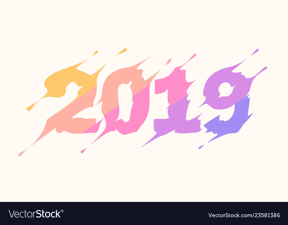 2019 logo new year lettering for print web